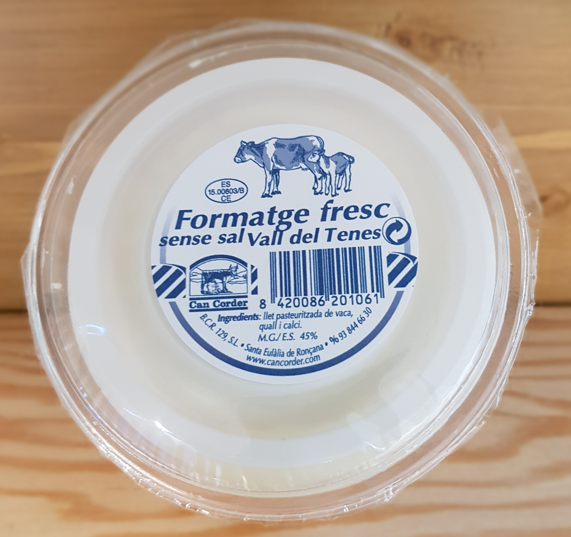 Formatge Fresc sense Sal